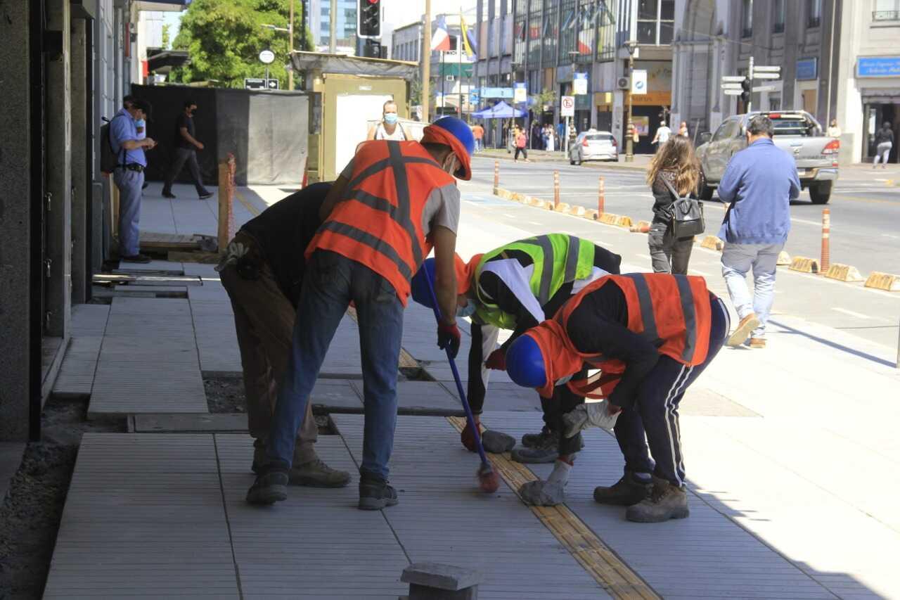 Inversión para el 2021 en infraestructura peatonal del Gran Concepción supera los mil millones de pesos