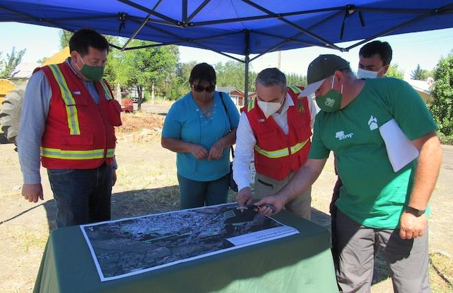 Autoridades destacaron avances en la construcción de cortafuegos en zonas de interfaz de Cabrero