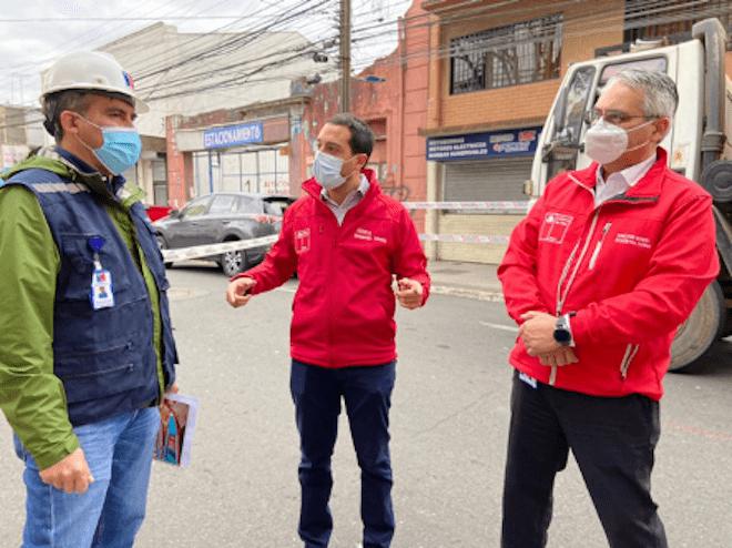 Inician obras de reparación de forado ocasionado por túnel clandestino descubierto en el centro de Concepción