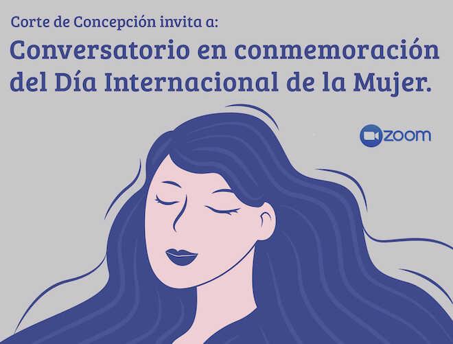 Canal de televisión del Poder Judicial transmitirá conversatorio organizado por Corte de Concepción en el Día Internacional de la Mujer
