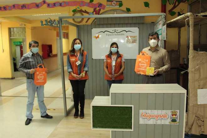 Promueven estilos de vida saludable y prevención del Covid-19 en establecimientos educacionales de Chiguayante
