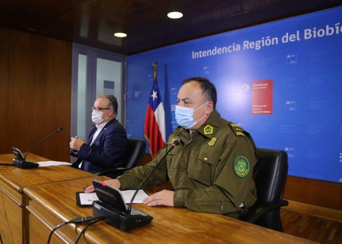 Una importante disminución en los detenidos se registró en la Región del Biobío en la última semana