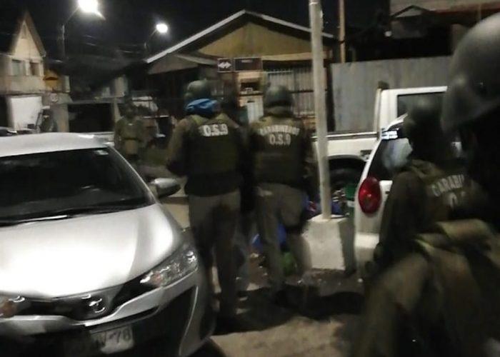 Carabineros de OS9 desarticula banda criminal dedicada a robos por sorpresa en la salida de bancos de la zona