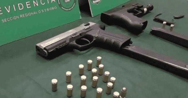 Carabineros del OS9 Biobío incautaron armamento con mira láser que estaba en poder de integrante de banda delictual de San Pedro de la Paz