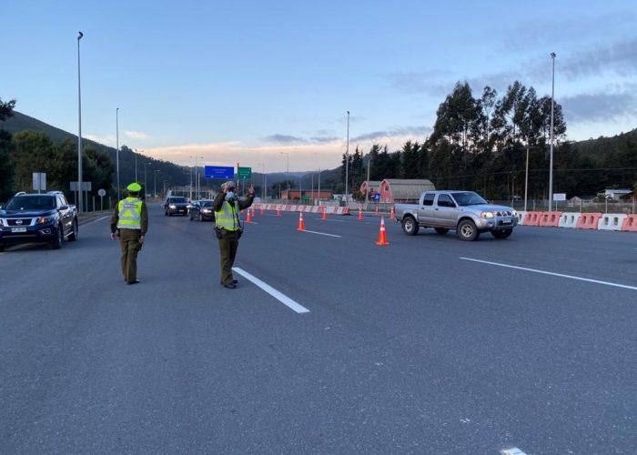 Más de 10 mil controles de tránsito realizó Carabineros en la Región del Biobío durante el fin de semana largo