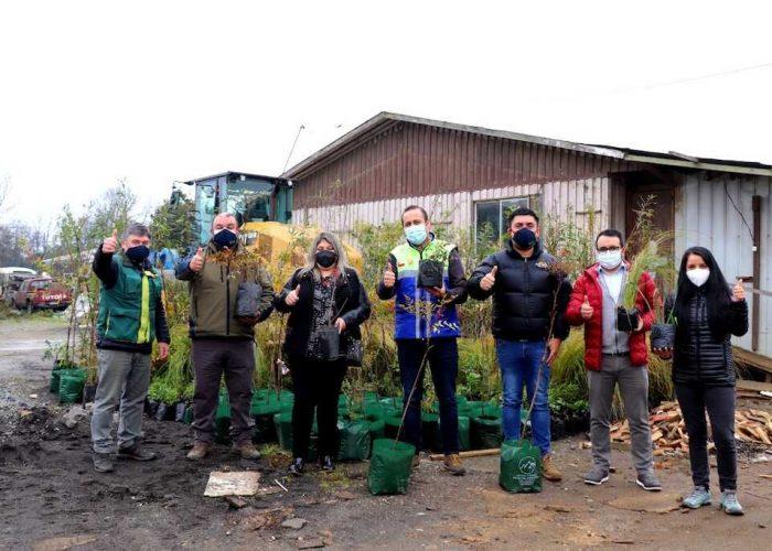 Conaf inició proyecto comunitario de arborización en Los Álamos junto a comunidad y municipio