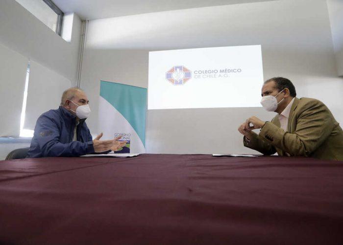 Presidente del Colmed Biobío le propone al gobernador Díaz descentralizar servicios de Salud y fortalecer red hospitalaria