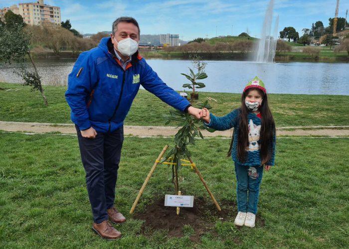 Concepción planta un árbol por cada integrante de la red de ciudades sostenibles