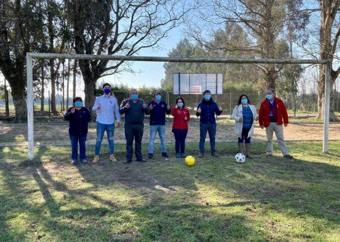Negrete cuenta con una renovada cancha en el sector San Gabriel de Rihue
