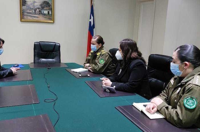 Directora de DD.HH. y Protección de la Familia, Gral. Karina Soza, se reúne con autoridades de la Región del Bíobío durante visita a la zona